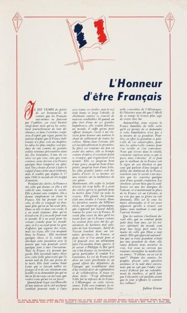 «L'HONNEUR D'ÊTRE FRANÇAIS» 3 intéressants...
