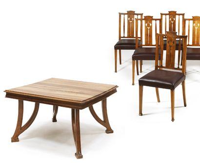 TABLE DE SALLE À MANGER en bois naturel,...