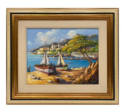 Thierry Boiredon Oil on canvas signed lower right H_33 cm W_41 cm