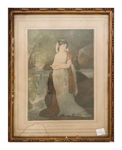 Deux gravures représentants un portrait de Jean Jacques Rousseau (H_48 cm L_37 cm)...