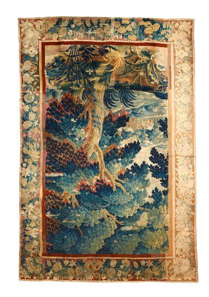 Verdure flamande vers 1700. Tissée en laine...