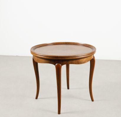 Guéridon En bois teinté Vers 1950 H_51 cm...