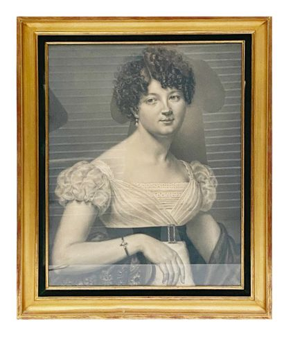 Ecole Française de la fin du XIXe siècle Portrait d'une élégante Pastel, crayon...