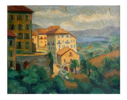 Yvonne Lecomte (1887 -1973) Oil on canvas signed lower left 54 x 65 cm Slight damage...