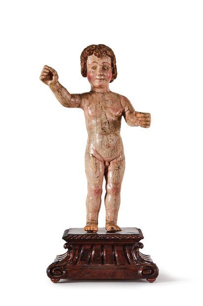 ENFANT JÉSUS en bois sculpté en ronde-bosse...