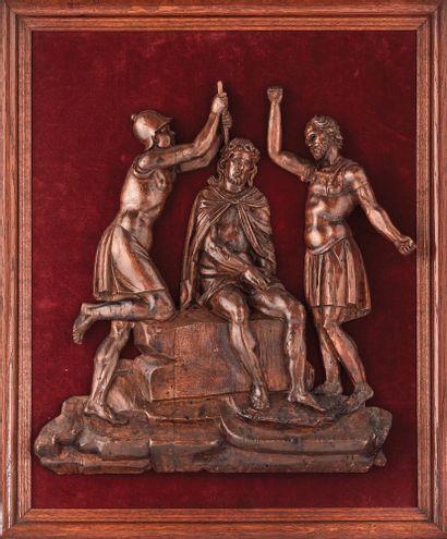 LE COURONNEMENT D'ÉPINES en peuplier sculpté...