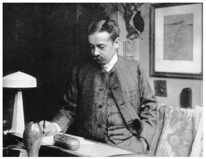 RENÉ LALIQUE (1860-1945) Vase Aras Verre soufflé-moulé opalescent de couleur jade....