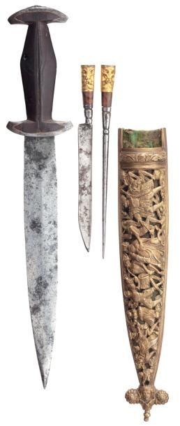 Rare dague du type dit « Holbein », Suisse...