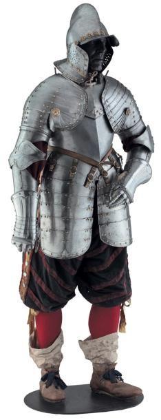 Demi-armure de fantassin, Suisse vers 1630....