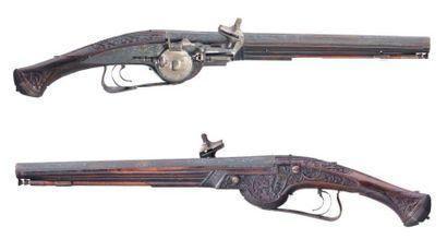 Très rare paire de pistolets d'arçon à rouet...