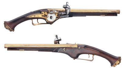 Rare paire de pistolets à rouet par Félix...