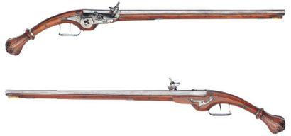 Paire de longs pistolets d'arçon à rouet...
