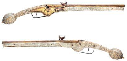 Paire de pistolets d'arçon allemands à rouet,...