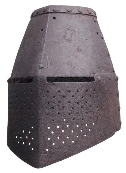 Grand heaume de style vers 1300. A Great...