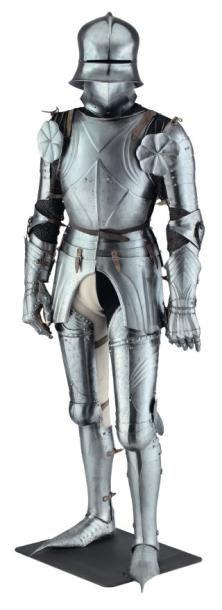 Armure complète pour le combat à pied, composée...