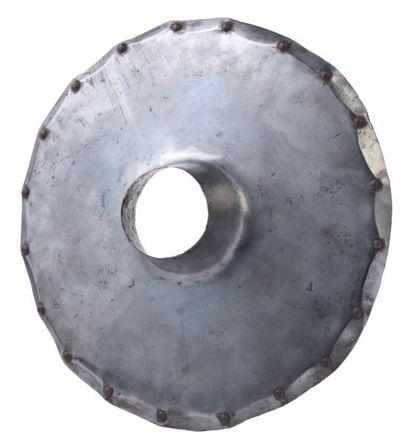 Rondelle de lance allemande en acier, vers 1550-1600. A German vamplate for a lance,...