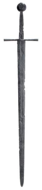 Grande épée médiévale vers 1300-1350. A Medieval Great sword, circa 1300-1350. In...