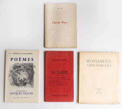 Lot de 4 ouvrages sur la poésie:  - P. Verlaine,...