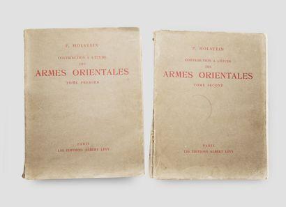 HOLSTEIN, P., Contribution à l'étude des...