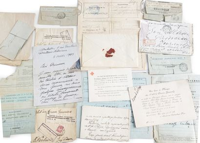 Lot de documents adressés ou relatifs à la...