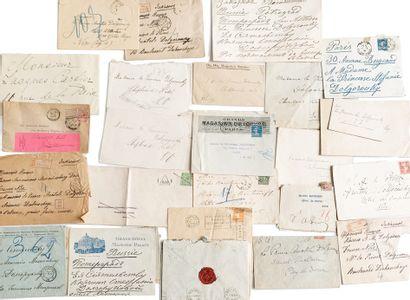 Lot d'une cinquantaine d'enveloppes destinées...