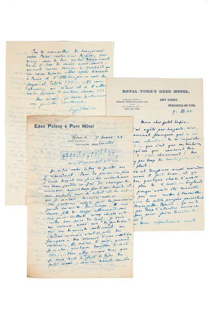 INGHELBRECHT (Désiré-Émile). Correspondance...