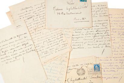 PERRIN (Germaine). Correspondance adressée...