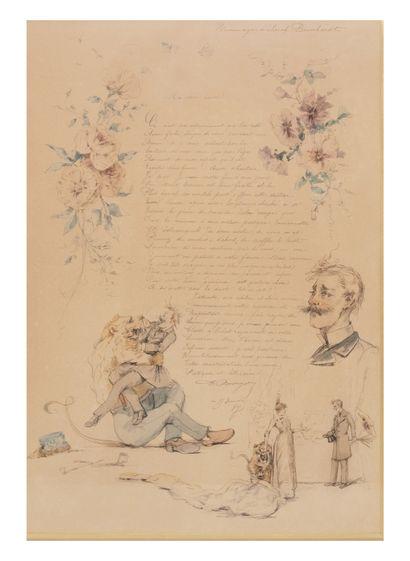 Hommage à Sarah Bernard  Poème aquarellé...