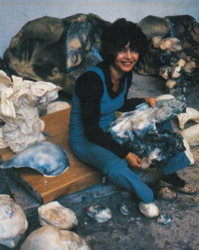 ALINA SZAPOCZNIKOW (1926-1973) Lampe bouche, 1969 Polyester teinté. Signé des initiales...