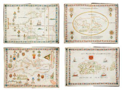 [PORTULAN]. Atlas manuscrit. Marseille, Honoré...