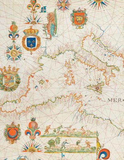 [PORTULAN]. Atlas manuscrit. Marseille, Honoré Boyer, 1648. Atlas grand in-folio...