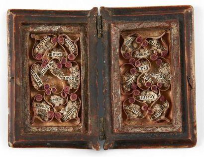 Boîte de dévotion sous forme de livre. Sans...