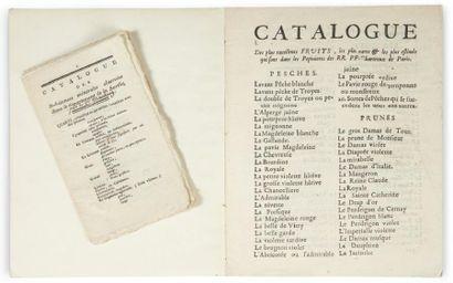 Catalogue des plus excellents fruits, les...