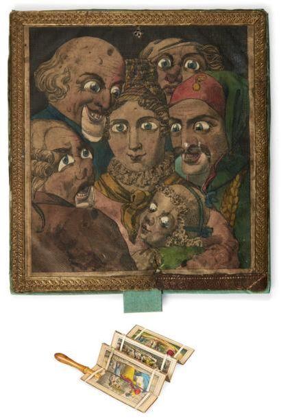 Image à système. Vers 1830. Lithographie...