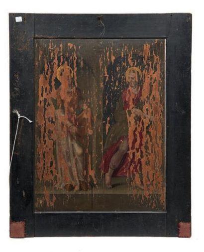 École Anversoise du XVIe siècle Retable avec huit scènes de la vie de la Vierge Paire...