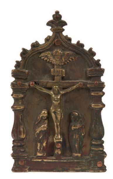 BAISER DE PAIX en bronze représentant la...