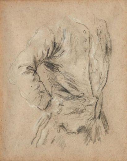 PIETRO LONGHI (VENISE 1702 - 1785) Recto: Etude de buste d'homme Verso: Deux études...