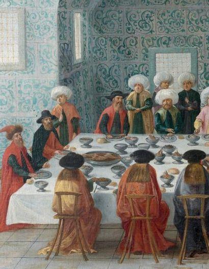 ECOLE DE L'EUROPE DE L'EST VERS 1630 Réception de l'ambassadeur ottoman Yousouf Mouttaher...