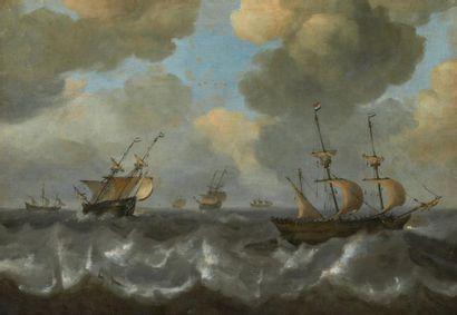 ECOLE HOLLANDAISE DU XVIIIE SIÈCLE, SUIVEUR DE JAN PORCELLIS