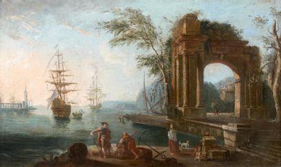 ATTRIBUÉ À JEAN BAPTISTE LALLEMAND (1716 - 1803)