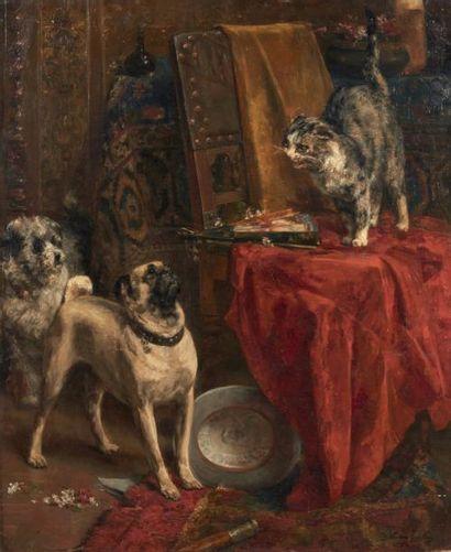 CHARLES VAN DEN EYCKEN (BRUXELLES 1859 - 1923)