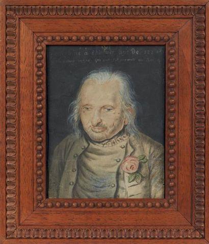 Rare portrait figurant Jean Jacob en buste...
