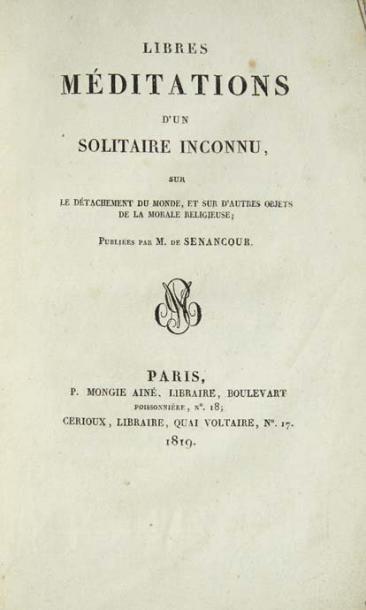 SENANCOUR (Etienne Pivert de)