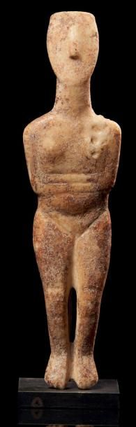 IDOLE CANONIQUE DE TYPE SPÉDOS. Statuette...