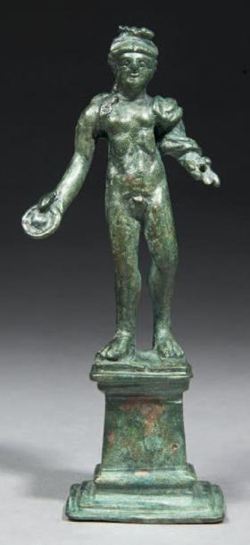 STATUETTE D'APOLLON. Statuette représentant...