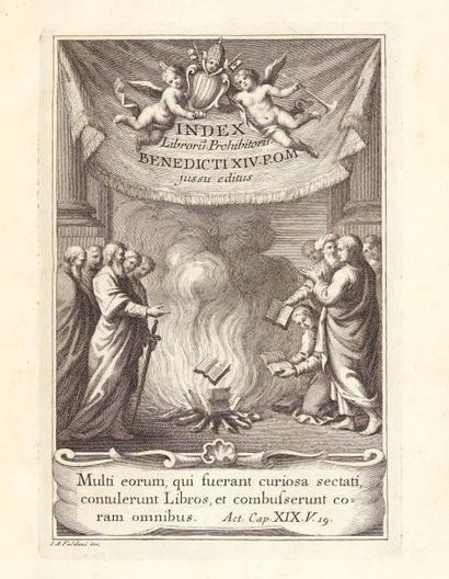 Index librorum prohibitorum. SSmi D.N. Benedicti...
