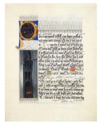 CHAPLIN Arthur (1869-1935) peintre Manuscrit autographe signé, calligraphié et orné...