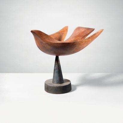 Ferdinand PARPAN (1902-2004) Sculpture «Grand oiseau en vol» - Pièce unique Taille...