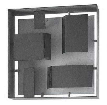 Gio PONTI (1891-1979) Paire d'appliques modèle «575» Laiton et métal laqué Edition...
