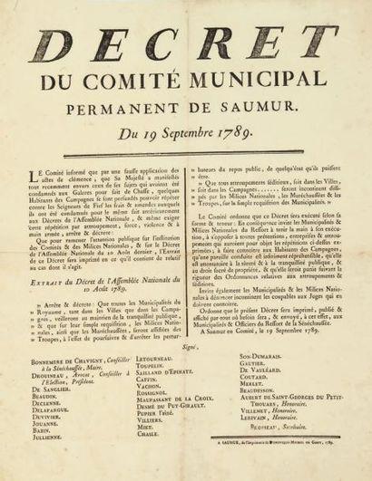 [AFFICHE]. Décret du comité municipal permanent...